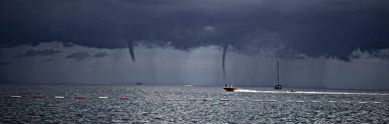 a tornado on the sea